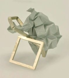 ROSE WARNER - silver and folded paper ring