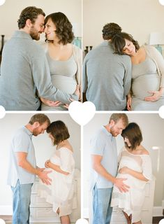 maternity shoot inspiration couple at home