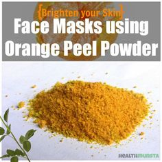 Homemade Orange Peel Face Mask Recipes for Bright Skin Orange peel face mask recipes are easy to make at home, using common ingredients available in your kitchen. Orange peel is nutrient-rich and has many benefits for skin, including skin lightening. Homemade Face Masks, Homemade Skin Care, Homemade Moisturizer, Homemade Beauty, Homemade Blush, Skin Mask, Face Skin, Acne Mask, How To Stop Pimples