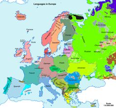 Overview map of the distribution of the major languages spoken in Europe European Languages, All Languages, Ghana, Poster Xxl, Big Fish Games, Cultura General, Les Continents, Journey Mapping, Wall Maps