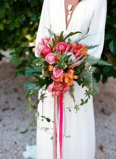 un bouquet de mariée coloré, bridalbouquet exotic