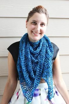 We like to think that this Ella's Rhythm Shawl was named after Ella Fitzgerald and her amazing musical talent. Perhaps a bit of Ella's spirit will rub off on you when you crochet this shawl.