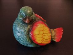 Gartenfigur Ente Teichente bunter Vogel Figur Garten Teich Dekoration