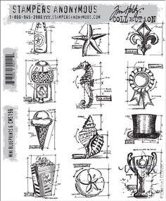 New stamps for CHA-W 2014: From Stampers Anonymous. Tim Holtz.