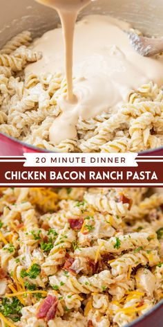 Easy Chicken Dinner Recipes, Easy Pasta Recipes, Cooking Recipes, Easy Pasta Dinners, Easy Chicken Dishes, Easy Bacon Recipes, Bacon Recipes For Dinner, Pasta Ideas, Yummy Recipes