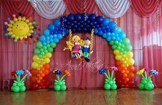 arco plano multicolor
