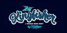 Kingfisher is a bold brush family with Script, casual Caps and Extras. Kingfisher is divided into three styles -regular, distressed and one with stylised cuts that emphasize the brush stroke. Kingfisher is packed with. Cute Fonts, Pretty Fonts, Beautiful Fonts, Hand Lettering Fonts, Script Fonts, Typography, Creative Market Fonts, Modern Script Font, Right To Privacy