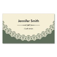 craft artist retro chic lace double sided standard business cards pack of 100 - Craft Business Cards