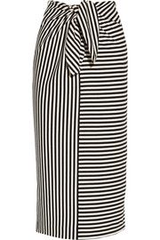 Ren striped cotton-blend jersey skirt