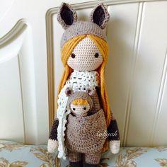 Lalylala袋鼠媽媽 #doll #dolls #crochetdoll #amigurumi #craft #handmade #毛線娃娃 #編織 #編みぐるみ #手作り #人形娃娃 #mycreative_world #kangaroo