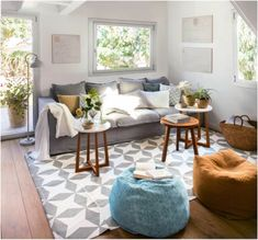 Resultado de imagem para alfombras con sofa gris
