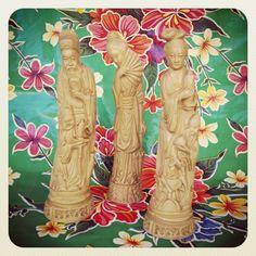 $20  Figuritas de escayola imitación marfil. via Bahía, confecciones, recuerdos y puestas de sol.. Click on the image to see more!