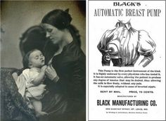 Ad for Black's Automatic Breast Pump #vintage #breastfeeding