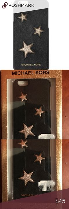 NWT Michael Kors IPhone 6 leather case Product details Brand:Michael Kors Michael Kors product line:MICHAEL Michael Kors Compatibility:iPhone 6 Material:Leather Give your smartphone star-worthy treatment with this luxe and playful iPhone 6 cover by Michael Michael Kors. MICHAEL Michael Kors Accessories Phone Cases
