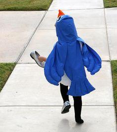 Купить крылья для костюма синий птицы