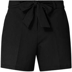 Dorothy Perkins Petite Black Tie Waist Shorts (€33) ❤ liked on Polyvore featuring shorts, black, petite, tie waist shorts, petite shorts and dorothy perkins