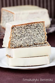 Piegusek cake with poppy seeds Sweet Desserts, Sweet Recipes, Delicious Desserts, Frosting Recipes, Cake Recipes, Dessert Recipes, Dessert Ideas, Rice Cakes, Food Cakes