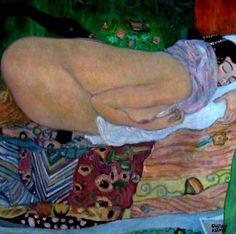 Gustav Klimt, Léda et le cygne 1917 destroyed by fire in 1945 Gustav Klimt, Art Klimt, Matisse, Art Nouveau, Art Deco, Vienna Secession, Famous Artists, Figure Painting, Erotic Art