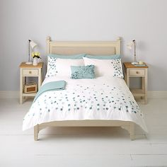 Buy Natural John Lewis & Partners Easy Care Border Embroidered Floral Duvet Cover and Pillowcase Set from our Duvet Covers range at John Lewis & Partners. Bedding Master Bedroom, Gold Bedroom, Duvet Sets, Duvet Cover Sets, John Lewis Duvet Covers, Bedroom Themes, Bedroom Decor, Bedroom Ideas, Uni Room