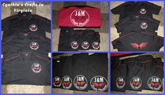 We do provide our services to small businesses corporations family t-shirts and so much more...it makes me proud to be part of a business's success by working with them and assisting with new logo designs and apparel customization...inquiry about quotes designs and all apparel we have available for you.  #simplepleasures #JandM #smallbusiness #shopsmall #CynthiascraftsinVirginia #smallbiz #corporateshirts #poloshirts