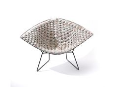 Created by French designer Clement Brazille, Bertoia Loom Chair is a reinterpretation of some of the iconic works of Italian-born American designer Harry Bertoia.