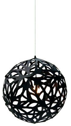 Floral pendant lamp by David Trubridge