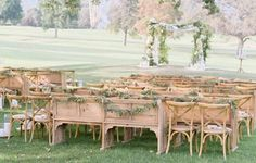 Vineyard Wood Church Pew | Town & Country Event Rentals