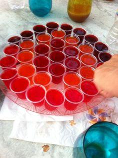 Jello shots. It's a bachelorette party! #jelloshots #bachelorette