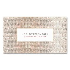 Fun Faux Silver Sequins Beauty and Fashion Retro Business Card Templates. Make your own business card with this great design. All you need is to add your info to this template. Click the image to try it out!
