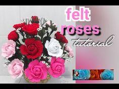 Beautiful felt roses tutorial - YouTube