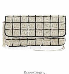 c696ebdc9 Mary Frances Embellished Designer Bag Off The Grid Ivory Mary Frances  Handbags, Beaded Clutch,