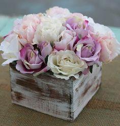 Shabby Chic Rustic Flower Centerpiece