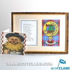 Crichton Clan Crest Fathers Day Verse and Card