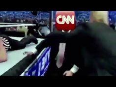Donald Trump beats up CNN in wrestling meme tweet!  Reblogged from the CBS News  on YouTube - link https://www.youtube.com/watch?v=85Eu1heYpuc  The rights for this video belong to the CBS News