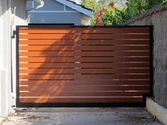 modern driveway automatic swing gate