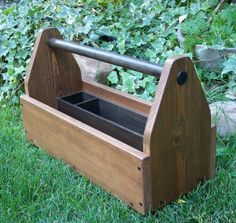 Wood Tool Tote, Hand Crafted Wood Tool Box