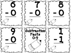 Addition and Subtraction flash cards! 356 total--free and