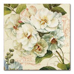Trademark Fine Art 'Les Jardin Iii' Canvas Art by Lisa Audit, Multi Canvas Artwork, Canvas Frame, Canvas Wall Art, Canvas Prints, Canvas Size, Bird Canvas, Canvas Paintings, Framed Prints, Art Floral