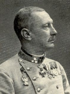 """Oskar Potiorek was dismissed as Austro-Hungarian commander in the Balkans following the Battle of Kolubara and relieved as commander of the 6th Army on 22 Dec 1914 for """"this most ignominious, rankling and derisory defeat""""."""