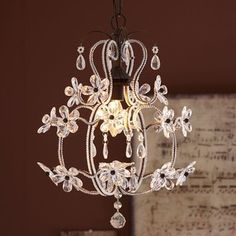 PB Teen Luce Chandelier, Clear at Pottery Barn Teen - Ceiling Light Fixtures - Hanging Lights - Pendant Ligh