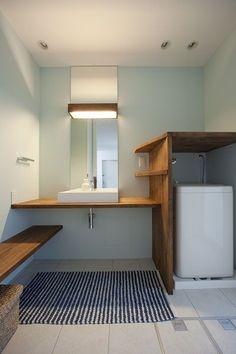洗面 Wet Rooms, Washroom, House Rooms, Small Bathroom, Minimalism, Home And Garden, Interior Design, Architecture, Storage