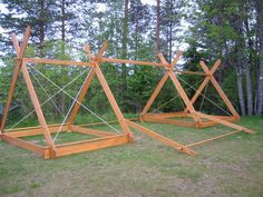 #diy #charpente de #tente #viking