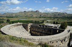 The Roman theatre in Aspendos.