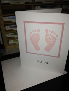 Set of 8 Baby Thank You Cards with Envelopes by TheVirtuousStamper, $12.00