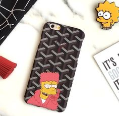 French Goyar Simpson Phone Case Cover For Iphone 7 7 Plus 6 Plus Fashion Cute Cartoon Exquisite Plastic Frosted Back Shell Goyard Iphone Case, Iphone 7, Custom Iphone Cases, 7 Plus, 7 And 7, Cute Cartoon, Phone Accessories, Shells, Plus Fashion