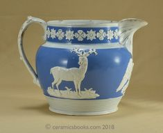 Antique Greyhound Handled Hunting Motif Pitcher Sale Price Antiques Creamers & Sugar Bowls
