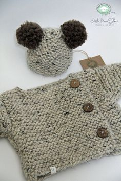 Hand knitted Handmade Baby Chunky Wool Sweater by LittleBeauxSheep
