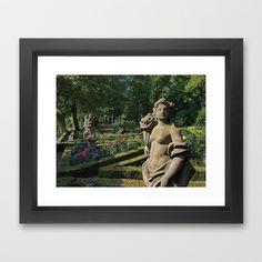 Rothenburg ob der Tauber - Castle Garden Framed Art Print by Rainer Steinke - $40.00 sculpture flowers