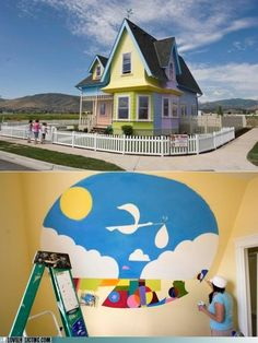 Someone built the house from the movie UP