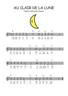 Téléchargez la partition gratuite de Au clair de la Lune en PDF